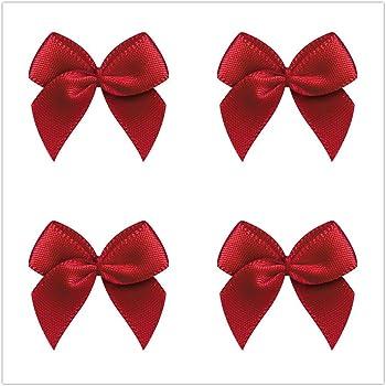 VIVIQUEN 50pcs Mini Gingham Ribbon Bows Checkered Ribbon Flowers Plaid Ribbon Bow Appliques DIY Craft for Sewing Gingham-Christmas Scrapbooking Wedding Gift