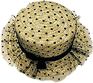 Leisial Femme Bob Chapeau de Soleil Casquettes Visi/ères Paille Tissage Chapeau Anti-Soleil Respirant Anti UV pour /ét/é Loisir Voyage