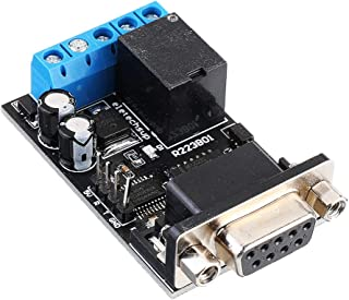 Electronic Module DC 12V RS232 Serial Port Delay Relay Switch Module PC COM DB9 ARM MCU UART Remote Control Board 5pcs