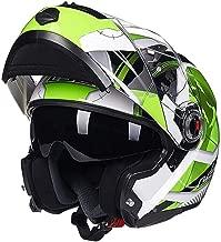 Moto 802-2 Crash Modular Casco no Incluido gyl La Cara Llena Racing Casco De La Motocicleta Bluetooth Friendly ,A-L con Parasol para Hombres Mujeres