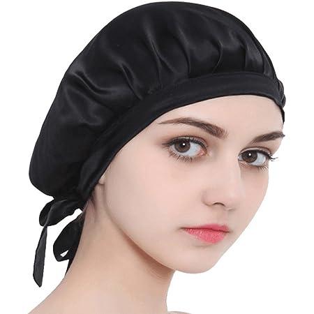 アンミダ(ANMIDA)潤いシルクのおやすみナイトキャップ シルク100% 天然シルク ナイトキャップ 就寝用 紐付き サイズ調節可能 健康 安眠かわいい 女性 就寝用帽子 お休み帽子 おやすみキャップ おしゃれ 男女通用可能