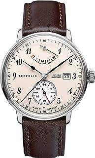 ツェッペリン ZEPPELIN 腕時計 7060-4 ヒンデンブルク 自動巻 40mm レザーベルト [並行輸入品]