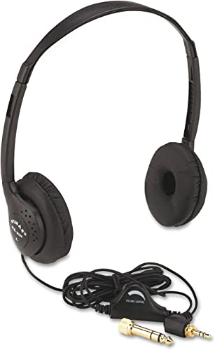 new arrival Amplivox SL1006 Personal Multimedia Stereo Headphones with online Volume online sale Control, Black online sale