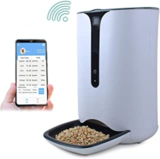 WESTLINK WiFi Automatic Pet Feeder Dog Cat Food Auto Dispenser with Smart APP Wireless Remote Control, Voice Recorder, Timer Programmable, 8 Meals Per Day & Power-Off Protection(7L)