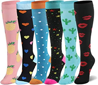 Compression Socks for Women & Men - 20-30mmHg 6/8 Pairs Compression Stockings for Nurse, Pregnancy, Travel