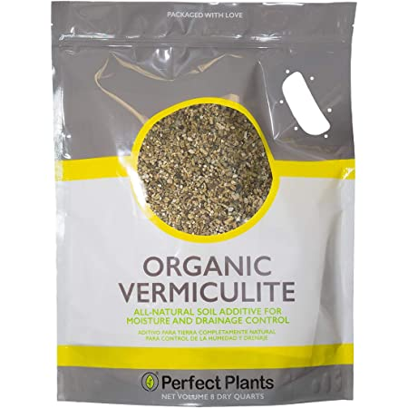 Organic Vermiculite by Perfect Plants - 8 Dry Quarts Natural Soil Additive for Potted Plants