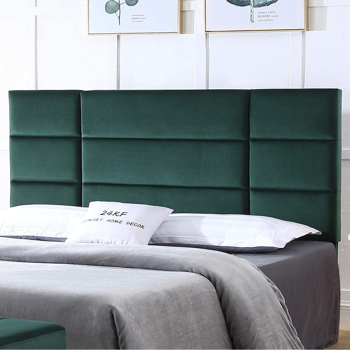 24KF Mid-Century Upholstered discount Tufted Comfortable w Surprise price Headboard King