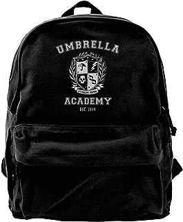 Mochila antirrobo Impermeable,Canvas Backpack Umbrella Academy Varsity School Crest Rucksack Gym Hiking Laptop Shoulder Bag Daypack for Men Women
