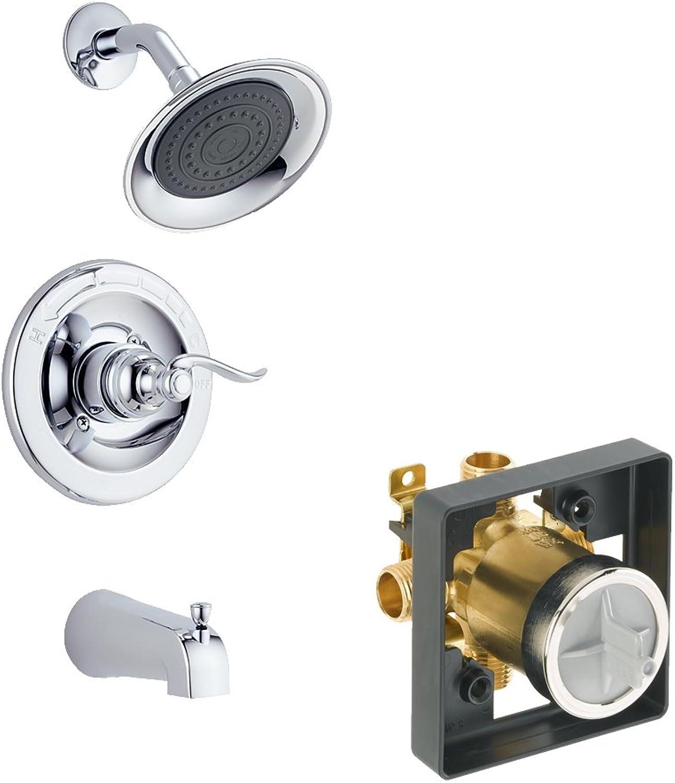 Delta KTSDWI-BT14496-CH-2 Foundations Windemere Tub Shower Kit Pressure-Balance Single-Function Cartridge, Chrome
