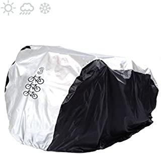 Maveek for 3 Bike Cycle Bicycle Rain Waterproof UV Protection Triple Bikes Cover All Weather Dust Resistant