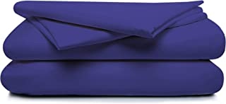 Boston Linen Co. 300 Thread Count Percale 100% Cotton Sheet Set – Luxury Finish – Durable, Crisp, and Breathable Long-Staple Combed Cotton – 4 Piece Set – King, Midnight Blue