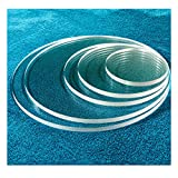 SPEEDYORDERS 1/4' Plexiglass Sheet, 11 Inch Diameter Clear Acrylic Lucite Circle, Round Cake Disc, Cake Disk Acrylic Sheet, Plexiglass Table Top, Round Acrylic Backdrop Made in USA