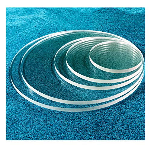 SPEEDYORDERS 1/4' Plexiglass Sheet, 11 Inch Diameter Clear Acrylic Lucite Circle, Round Cake Disc, Cake Disk Acrylic Sheet, Plexiglass Table Top, Round Acrylic Backdrop Made in USA