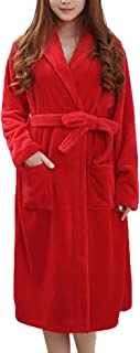 Dressing Gown Ladies Men Long Thicken Warm Homewear Sauna Comfortable Sizes Coat Long Sleeve V Neck Fashion Soft Flannel C...