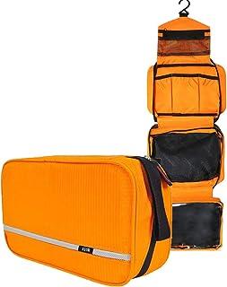 Neceseres de Viaje Hombre y Mujer, AIOR Pequeño Bolsas de Aseo Impermeable y Plegable Multifuncional para Cosméticos Organizador de Viaje, Baño Travel Toiletry Bag (Naranja)