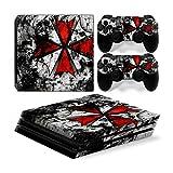 Funky Planet Playstation 4 Pro PS4 PRO Adesivi per pelli in PVC per console e pastiglie - Ridimensionare il tuo PS4 Pro (umbrella)