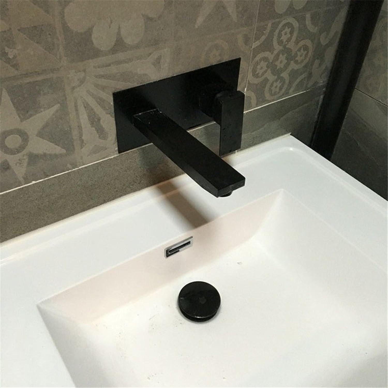 Bijjaladeva Wasserhahn Bad Wasserfall Mischbatterie WaschbeckenSchwarz Armatur Unterputz Wasserhahn Warmes und Kaltes Wasser Waschtischmischer spalteten Sich die Tap-Tap von Einem