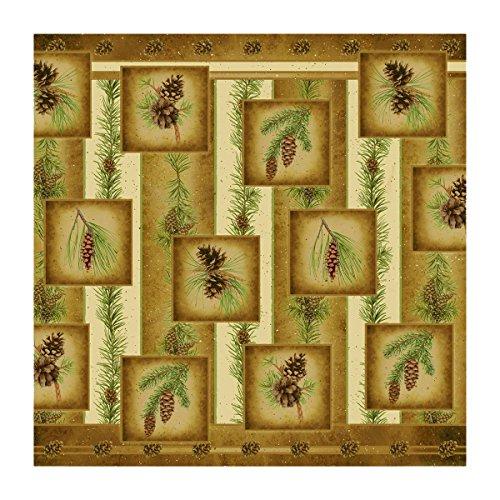 rustic pine cone bathroom decor - 8