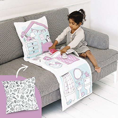 Sago Mini 2-in-1 Fold Up Pillow Playset, Robin's Doll House with Plush Accessories for Toddlers