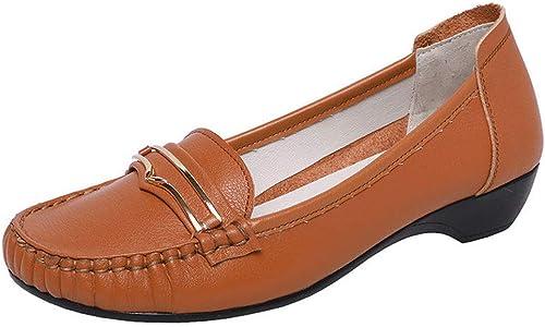 Zapatos De Trabajo Ocasionales zapatos De Guisantes zapatos Planos Para mujeres zapatos Perezosos Mocasines Calzado De Conducción