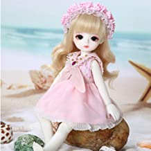Ball Jointed BJD Doll 10 Inch Doll DIY Toys 1/4 SD Dolls with Makeup Wig Hair Clothes Outfit Shoes