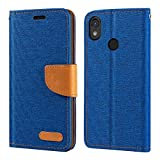 CAT S52 Case, Oxford Leather Wallet Case with Soft TPU Back
