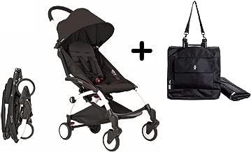 BabyZen YoYo Stroller White/Black + Babyzen YoYo Premium Travel Bag, Black