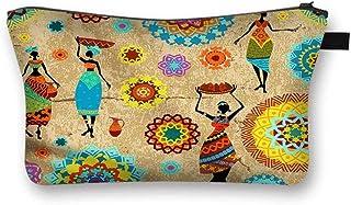 'African Ladies' Canvas Fabric Cosmetic Bag [Travel, School, Dorms]