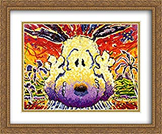 Nobody Barks in L.A. 2X Matted 40x28 Large Gold Ornate Framed Art Print by Tom Everhart
