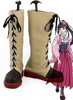 Gowell Anime Kabanelli de la forteresse de fer Calamus Cosplay Chaussures Unisexe PU Genou Bottes hautes avec fermeture Éc...