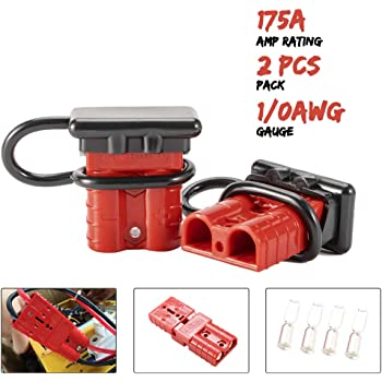 BT0065 X-Haibei Battery Quick Connector Kit 175A 2AWG Plug Connect Disconnect Winch Trailer RED