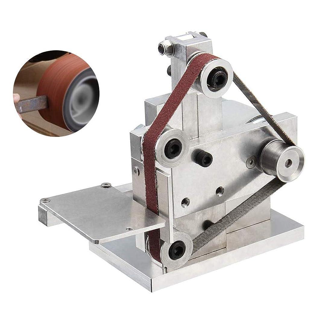 プール大少年研磨ベルト機 縦型 ミニ ベルトサンダー 金属/木材/アクリル適用 幅10mm×周長330mm 卓上型 7段階調速 4500-9000RPM調整可能