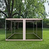 Mosquito Netting with 4 Side Zipper for Universal Outdoor 10x10 Pop Up Canopy Tent,DIY Curtain Style Canopy Screen Walls for Patio Gazebo (Only Mosquito Net,Suit to Our 12X12 Outdoor Gazebo)