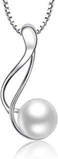 OneSight Freshwater Pearl Twist Pendant Necklace Jewelry 925 Sterling Silver Gift for Women