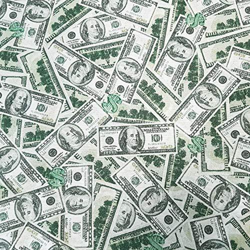 Stoff Meterware Baumwolle Dollar Banknoten Geldscheine grau grün pflegeleicht Dekostoff Vorhangstoff