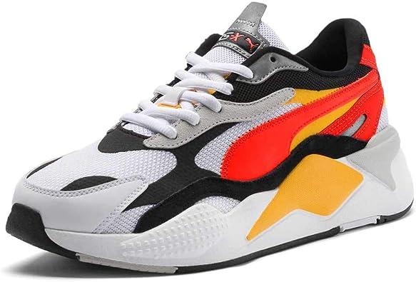 PUMA Rs-X3 Puzzle White Red Orange Sneaker