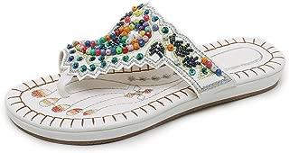 Sandali da Donna Basse Pantofole Donna Estive Giapponese Nastro Floreale Infradito Boemia Spiaggia Sandali Piattaforma Infradito Pantofole VICGREY Infradito Donna Eleganti Scarpe Flip-Flops