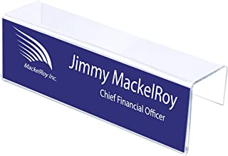 Cubicle Name Plate Holder 8-1/2