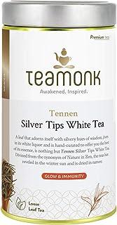 Puntas de aguja de plata Teamonk Hojas sueltas de té blanco (25 tazas) |Té Blanco Premium |Té para una piel radiante |Té puro de hojas sueltas |Sin aditivos - 2.6 oz