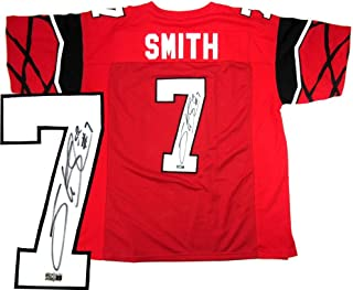 Signed Steve Smith Jersey - Sr Red Custom Home - Autographed College Jerseys