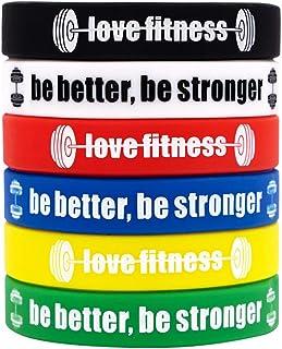 Fitness Motivational Wristbands Workout Rubber Bracelets...