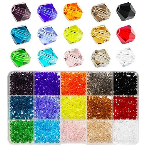 Bala & Fillic - Lote de 15 colores para hacer manualidades (total 1500 unidades)