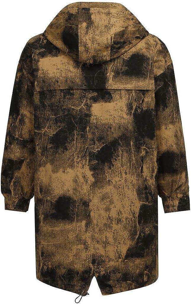 NotingBuss Men's Winter Coats Down Jackets Outerwear Camouflage Long Cotton Coat Men Thick Warm Fur Jacket Overcoat