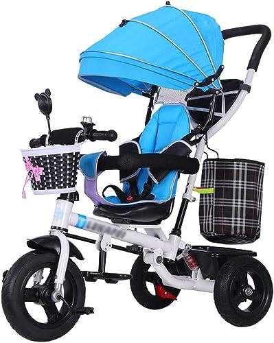 ordenar ahora Cochecito de de de bebé Multifuncional Trike Bike Carro Infantil con arnés de Seguridad y Triciclo para Niños con Amortiguador de choques Durante 6 Meses - 5 años (azul)  entrega rápida
