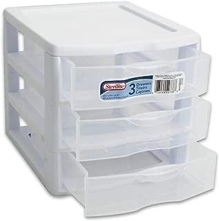 STERILITE Organizer Mini 3 Drawer Wht Sm (Pack of 2)