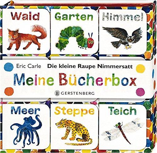 Die kleine Raupe Nimmersatt - Meine Bücherbox: Geschenkbox mit 9 Würfelbüchern mit Raupenpuzzle auf Buchrückseiten