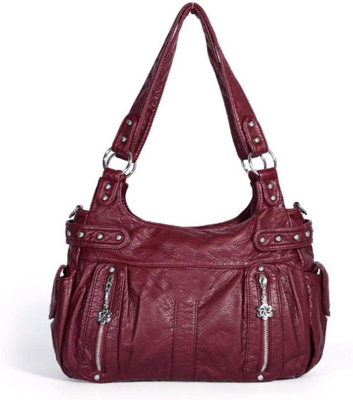 Fashion Lady Bag Pu Middle-Aged Handbag Single Shoulder Bag Inclined Straddle Bag