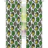 YUAZHOQI - Cortina de alcachofa para puerta francesa, color vivo y alcachofas de cocina, alimentos, comestibles, opciones veganas, 52 x 274 cm, color amarillo y verde helecho