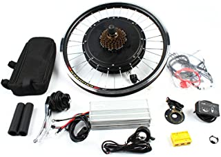 Kit de conversión de bicicleta eléctrica de 20 pulgadas, kit de conversión para rueda trasera de 1000 W, 48 V, 130 A