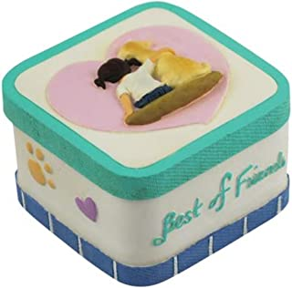 WL SS-WL-18477, 2 Inch Girl and Dog Best Friends in Blue Jeans on Trinket Box 2